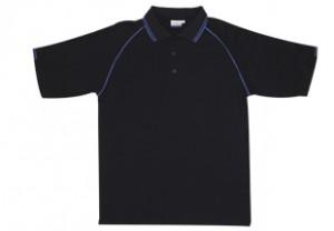 2TP07- 2 tone polo black royal
