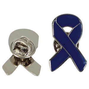 Metal ribbon with magnetic pin