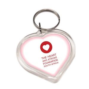 PLASTIC HEART KEYRING WITH FULL COL BRANDING - Copy