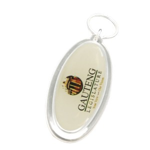 PLASTIC OVAL KEYRING WITH FULL COL BRANDING