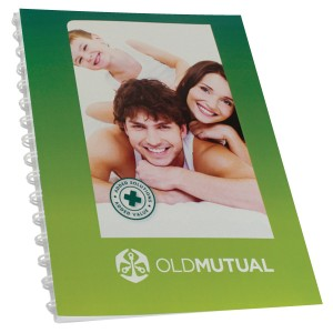 SPIRAL BOUND NOTEPAD A4 WITH FULL COL COVER
