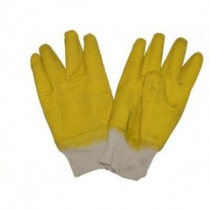 Yellow Comarex glove. Rubber. R35,00.  105,00 MT. 11,00 USD
