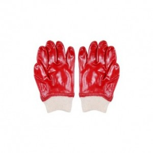 red PVC glove.medium duty. R25,00. 75,00 MT.  9,00 USD