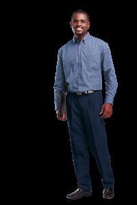 Men Statement classic pants navy blue