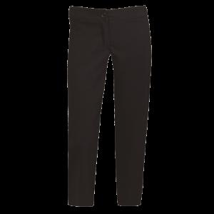 ladies statement crop pants black