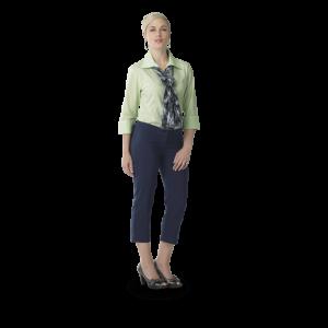 ladies statement crop pants navy