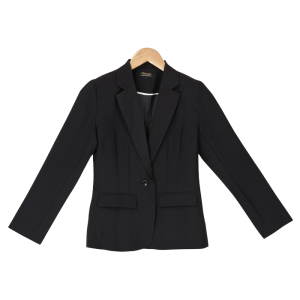 ladies statement one button jacket black